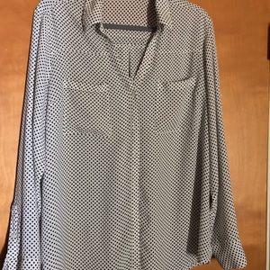 Polka dot blouse Express